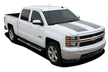 "2014-2015 Chevy Silverado ""1500 RALLY"" Edition Style Truck Racing Vinyl Graphics Stripes Kit"