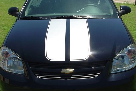 2005-2010 Chevy Cobalt Hood Stripes RALLY Racing Vinyl Graphics Decals Kit for Hood, Roof, Trunk, Spoiler