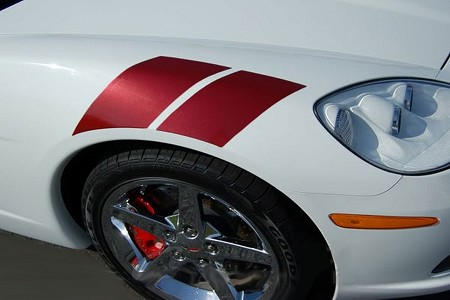 "2005-2013 Chevy Corvette ""HASH MARKS"" Hood and Fender Vinyl Stripes Kit"