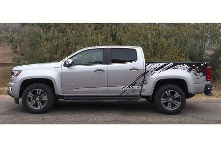 """PREDATOR"" Chevy Colorado Mudslinger Truck Bed Vinyl Decal Graphic Stripes"