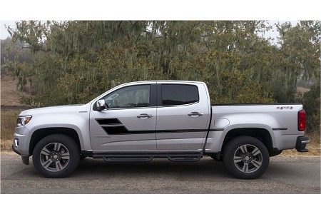 SPEED XL Chevy Colorado or GMC Canyon Truck Mid Body Line Door Rally Accent Vinyl Stripes Decal Graphics Kit