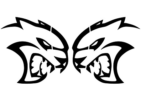 Hellcat Logo Decals 28 inch Pair fits Dodge Challenger, Dodge Charger Vinyl Graphics