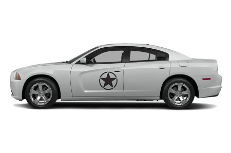 Dodge Charger Army Stars Door or Hood Decals Vinyl Graphics (All Model Years)