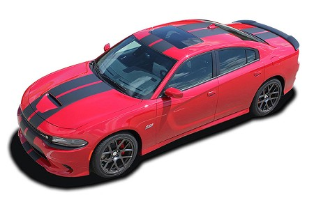 2015-2019 Dodge Charger Vinyl Racing Stripes N-CHARGE RALLY S-PACK R/T Scat Pack SRT 392 Hellcat Mopar Decals Kit