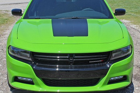 2015 2016 2017 2018 2019 Dodge Charger Vinyl Decals HOOD 15 SE RT Hemi Stripes Daytona Mopar Blackout Graphic Kit