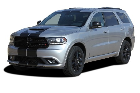 2011-2021 Dodge Durango Racing Stripes RALLY Decals Full Bumper to Bumper Vinyl Graphic Decal Stripe Kit