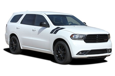 2011-2020 Dodge Durango Stripes DOUBLE BAR Hood Decals to Fender Hash Marks Vinyl Graphic Truck Kit