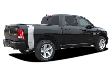 2009-2018 Dodge Ram RUMBLE Rear Bed Truck Stripes Vinyl Graphic Stripe Kit