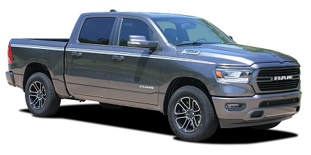 2019 2020 Dodge Ram Stripes EDGE Side Door Decals Body Line Vinyl Graphic Kit