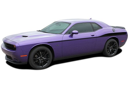 2008-2021 Dodge Challenger Side Stripes ROADLINE Yellow Jacket Decals Body Line Side Door Panel Vinyl Graphics Kit