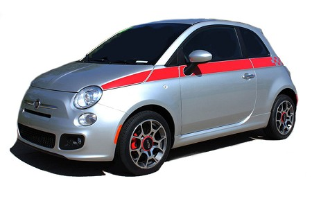 2007-2018 Fiat 500 SE5 CHECK Side Door Stripes Vinyl Graphic Kit