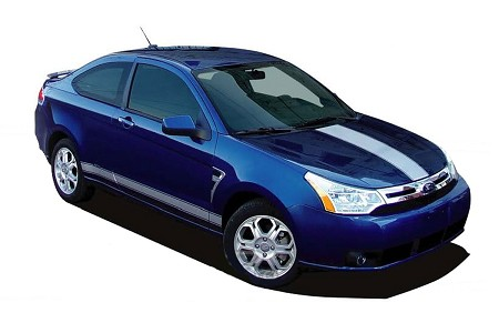 Ford Focus RALLY Hood and Rocker Racing Stripes Vinyl Decal Graphic