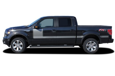 2009-2014 and 2015-2020 Ford F-150 Stripes FORCE ONE Decals Hockey Stick Side Vinyl Graphic Factory Style