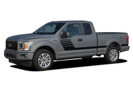 2015-2019 Ford F-150 Stripes LEAD FOOT COMBO New Edition Hockey Stripe Decals Vinyl Graphics Kit
