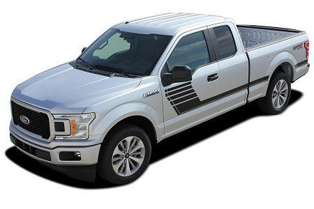 2015-2020 Ford F-150 Stripes SPEEDWAY Special Edition Appearance Package Hockey Stripe Decals Vinyl Graphics Kit