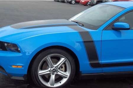 2010-2012 Ford Mustang Stripes DOMINATOR BOSS Style Vinyl Decal Graphics Kit