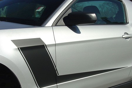 2010-2012 Ford Mustang Side Stripes LAUNCH Body Decals Vinyl Graphics Kit