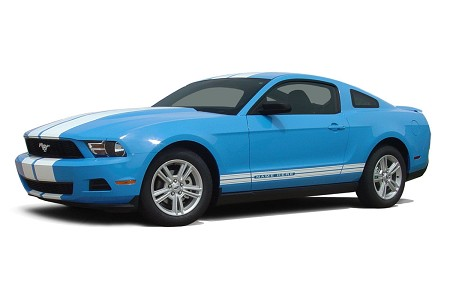"2010 - 2012 Ford Mustang ""STAMPEDE ROCKER"" Factory OEM Style Lower Rocker Stripes Vinyl Decal Graphics"