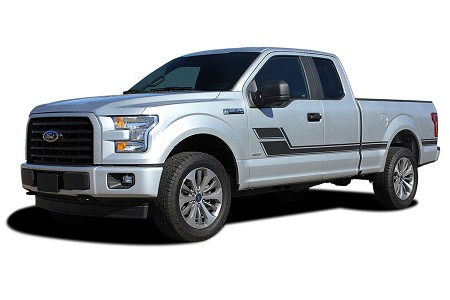 2015 2016 2017 2018 2019 Ford F-150 ELIMINATOR Stripes Side Door Panel Decals Hockey Stick Vinyl Graphics Kit