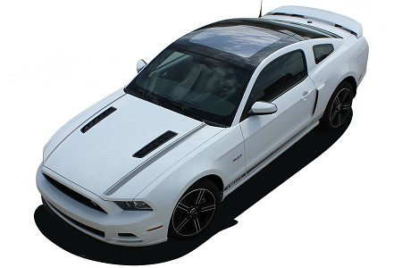 2010 2011 2012 2013 2014 Ford Mustang CALI California Special GT/CS Rocker and Hood Decals Factory Lower Rocker Stripes Vinyl Graphics Kit