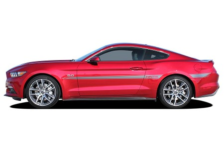 2015 2016 2017 Ford Mustang Side Stripes LANCE Decals Vinyl Graphics Kit
