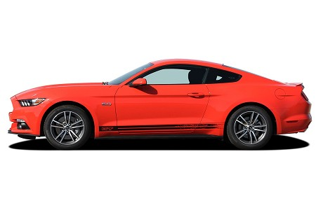 2018 2019 2020 Ford Mustang BREAKUP ROCKER Lower Rocker Stripes Vinyl Decal Graphics Kit