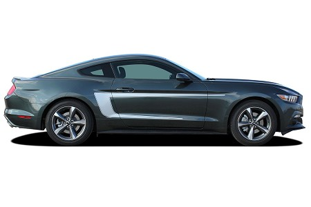 2015 2016 2017 Ford Mustang REVERSE C-Stripe Boss Style Side Stripes Vinyl Decal Graphics Kit