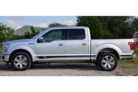 BREAKER Ford F-150 Series Truck Lower Rocker Panel Body Line Door Rally Accent Vinyl Stripes Decal Graphics Kit