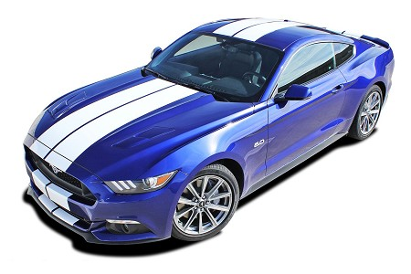 "2015 2016 2017 Ford Mustang Racing Stripes STALLION 10"" inch wide Rally Vinyl Decal Graphics"