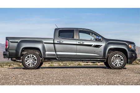 BREAKER GMC Canyon Stripes or Chevy Colorado Stripes Truck Mid Body Line Door Rally Accent Vinyl Decal Graphics Kit