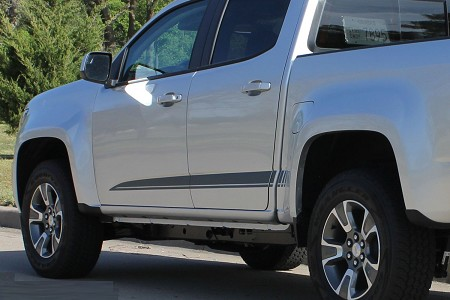 2015 2016 2017 2018 GMC Canyon Stripes RATON Decals Lower Rocker Panel Accent Body Side Vinyl Graphics Stripes Kit