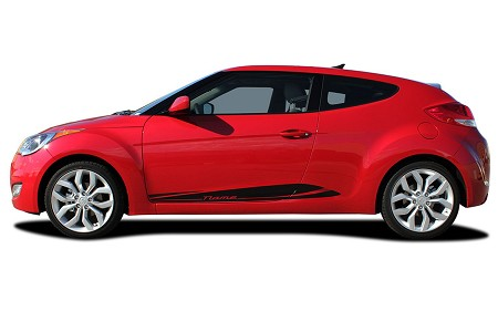2011-2018 Hyundai Veloster Stripes MENTUM Decals Lower Rocker Panel Vinyl Graphics