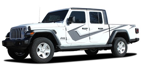 2020-2021 Jeep Gladiator Side Body Vinyl Graphics PARAMOUNT DIGITAL PRINT or SOLID COLOR Decal Stripes Kit
