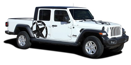 2020-2021 Jeep Gladiator Side Star Decal LEGEND SIDES Body Vinyl Graphic Stripes Kit