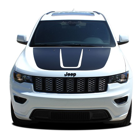 2011-2019 Jeep Grand Cherokee Trailhawk Hood Decal TRAIL Vinyl Graphic Stripes