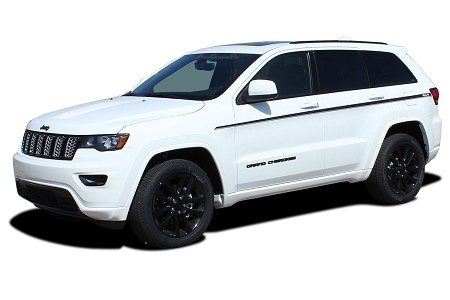 2011-2021 Jeep Grand Cherokee Door Stripes Upper Body Line Decals PATHWAY SIDES Vinyl Graphic