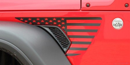 2018 2019 2020 Jeep Wrangler JL Unlimited Side Star Decals PATRIOT Vinyl Graphic Stripes Kit