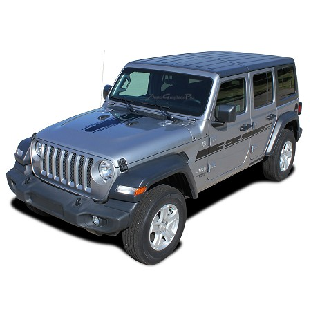 2007-2018 2019 2020 Jeep Wrangler JL Unlimited Side Door Decals MOJAVE Vinyl Graphic Hood Stripes Kit