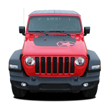 2018 2019 2020 Jeep Wrangler JL OMEGA HOOD Vinyl Decal Graphic Stripes Unlimited