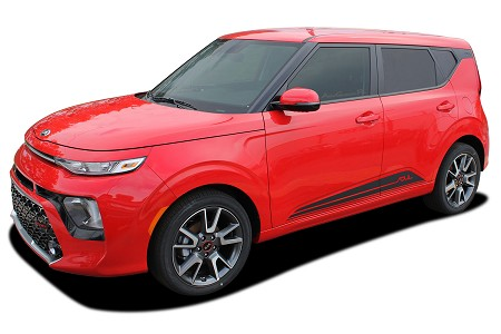2020 2021 Kia Soul Door Decals SOULED ROCKERS Lower Body Panel Vinyl Graphic Stripes Kit