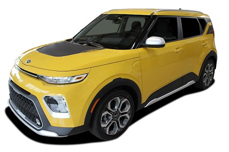 2020 2021 Kia Soul Hood Decals SOUL PATCH 20 with Rear Accent Vinyl Graphic Stripes Kit