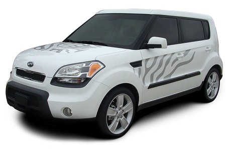 "2010-2013 Kia Soul ""SOUL CAT"" Factory Style Hood Side and Rear Vinyl Graphics"