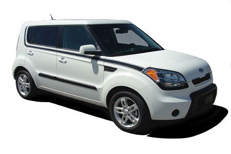 "2010-2013 Kia Soul ""SOUL MATE"" Side Stripes Vinyl Graphics"