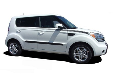 2010-2013 Kia Soul R Side Fading Stripes Vinyl Graphics Kit