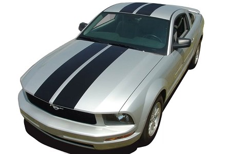 2005-2009 Ford Mustang WILDSTANG Racing Stripes and Rally Hood Vinyl Graphics Decals Kit