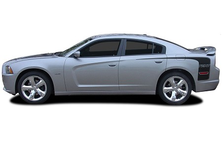 "2011-2014 Dodge Charger ""RECHARGE Hockey 3"" Quarter Panel Mopar Style Vinyl Graphics"