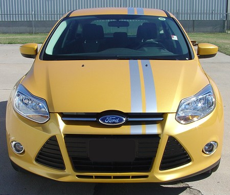 2005-2018 Ford Focus RALLY ROLL Euro Style Racing Stripes Universal Fit Vinyl Decal Graphic Stripes