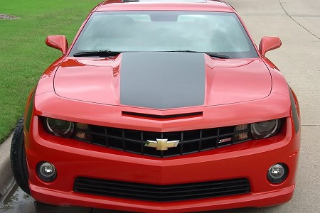 2010-2013 Chevy Camaro Hood Stripes SINGLE STRIPE Wide Hood Decals and Trunk Vinyl Graphics Kit