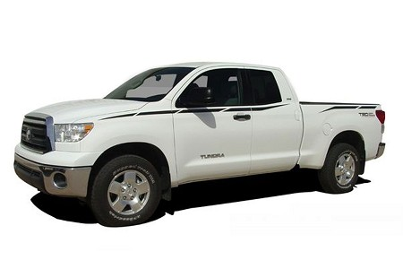 2007-2013 Toyota Tundra UPRISE Bed Sides Vinyl Graphics Striping Decals Kit