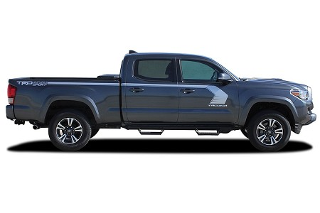 2015-2021 Toyota Tacoma Door Stripes STORM Decals Upper Door Panel Accent Trim Decal 3M Vinyl Graphics Stripe Kit